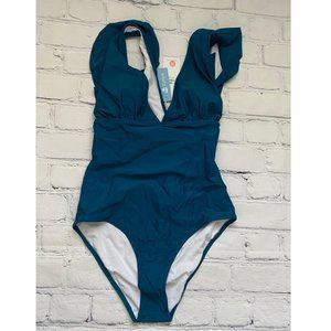 Cupshe Blue Ruffled  One piece  Swimsuit